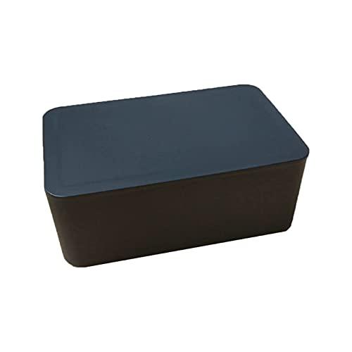 Soporte para pañuelos para automóvil Soporte para dispensador de toallitas húmedas con Tapa Caja de Almacenamiento de pañuelos Negra a Prueba de Polvo para Tienda de Oficina en el hogar (Color: Negr