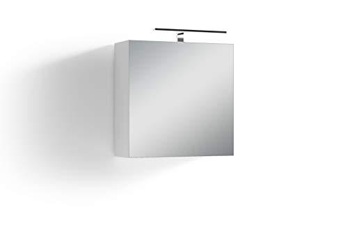 Homexperts Salsa Spiegelschrank, Weiß, 60 x 60 x 20cm (BxHxT)