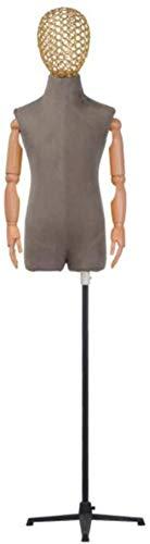 Tailors - Soporte para maniquí para tienda de ropa para niños, modelo infantil para decoración de ventanas de 2 a 8 años (color: gris, tamaño: mediano)