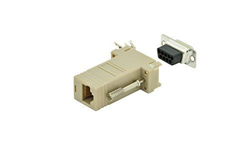 DIGITUS D-Sub 9 zu RJ45 Adapter - Kupplung zur Selbst-Assemblierung - Stecker zu Buchse - RS-232 - RS-485 - PVC-Gehäuse