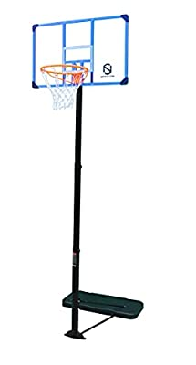 """NORTHERN STONE Pro Court Free Standing Height Adjustable Portable Basketball Hoop System with 44"""" Deluxe Transparent Polycarbonate Shatter Proof Backboard Regulation Height with Spring Built Slam Rim"""