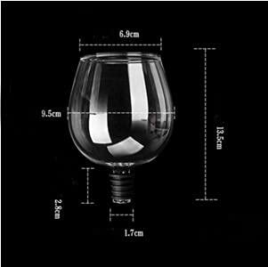 Borrar Vidrio Wares Beber Vino Copa de Cristal Crystal Direct Laving Botking (Color : 1PC)