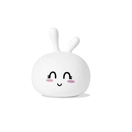 Conejo Led Luz de noche Sensor táctil Colorido Silicona Conejito Lámpara Usb Recargable Entrecerrar los ojos