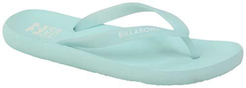 Billabong Women's Beach Break Flip Flop, bleached aqua, 10 Regular US