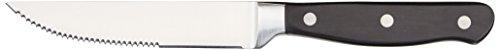 Amazon Basics 8-Piece Kitchen Steak Knife Set, Black