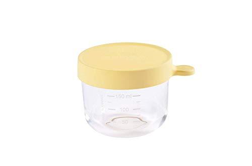 Béaba 912651 - Pote cristal comida bebe, unisex, color amarillo