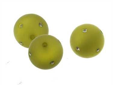 Creative-kralen, 10 mm, polariskralen met fonkelende strassteentjes, modieuze kleurkeuze voor zelfgemaakte sieraden olijfgroen