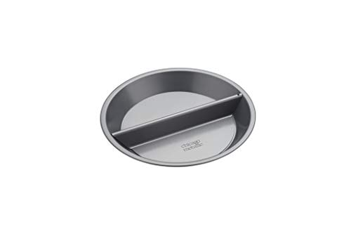 Chicago Metallic Professional 'Split Decision' - Teglia antiaderente per torta, con divisorio e fondo sciolto, in confezione regalo, in acciaio al carbonio, 24 cm