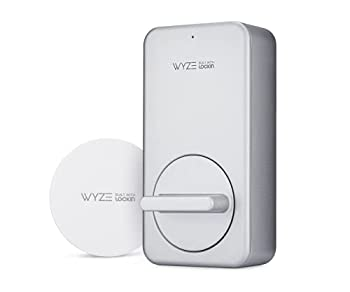 Wyze Lock WiFi & Bluetooth Enabled Smart Door Lock Wireless & Keyless Entry works with Amazon Alexa & Google Assistant Fits on Most Deadbolts Includes Wyze Gateway - A Certified for Humans Device