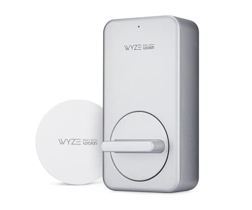Wyze Lock WiFi & Bluetooth Enabled Smart Door Lock, Wireless & Keyless Entry, works with Amazon Alexa & Google Assistant, Fits on Most Deadbolts, Includes Wyze Gateway - A Certified for Humans Device