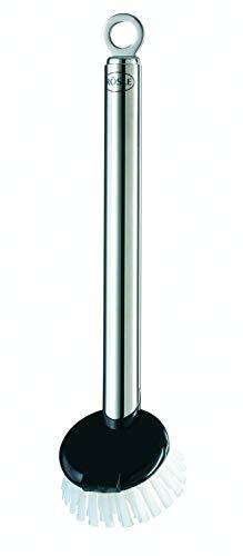 RÖSLE Spülbürste, Edelstahl 18/10, Polyesterborsten, 24 cm,  wechselbarer Bürstenkopf, spülmaschinengeeignet