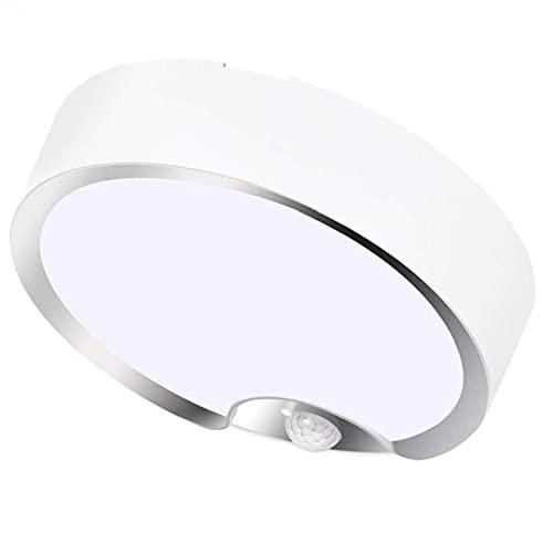 Runfon Luz de Techo del Sensor de Movimiento LED batería Cool Powered Blanca lámparas de Noche con Sensor de luz para el sótano Escalera Pasillo de lavandería