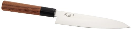 KAI Seki Magoroku Red Wood Griff Allzweckmesser mit red Wood Griff, Klinge 15,0 cm, MGR-0150U