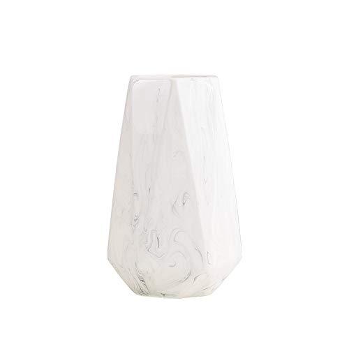 HCHLQLZ 20cm Mármol Blanco Decorativos Modernos Ceramica Jarrones de Flores para Mesa de Comedor Sala de Estar Idea Regalo para Cumpleaños Boda Navidad