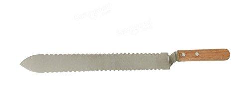 LM en acier inoxydable dentelée Honey Comb Uncapping couteau Grattoir Outil Apiculture Miel de coupe couteaux