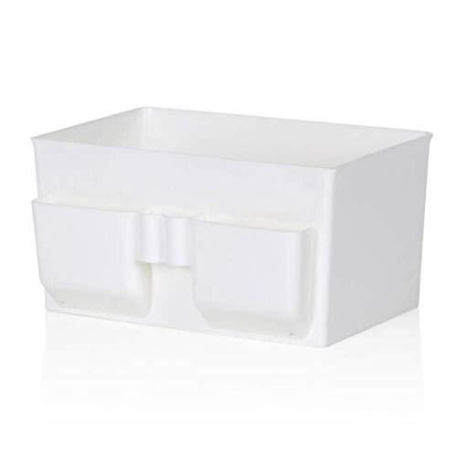 Organizador Escritorio Soporte para bolígrafo Escritorio Tidy Organizador de almacenamiento de escritorio para niños Organizador de baño Cajas de almacenamiento con tapas Blanco