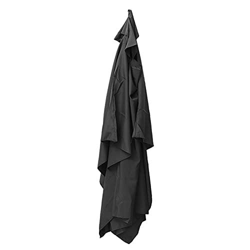 PPLAX Sombrilla 200x300cm 6 Brazo Parasol Patio sombrilla jardín Paraguas Cubierta Cubierta Impermeable Anti UV al Aire Libre Playa toldo toldo Sol cobertizo (Color : Black)