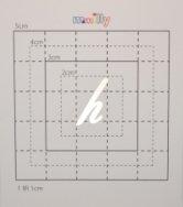 【スワロフスキー20個付アルファベットシール】(スマートホン オリジナルカバー)小文字SV(小)h