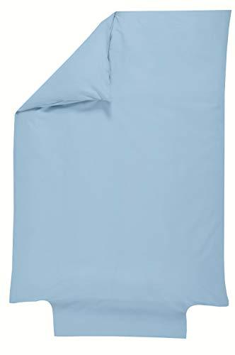P'tit Basile Bettbezug, 100 % Bio-Baumwolle, 80 x 120 cm, Himmelblau, hochwertige Baumwolle, zertifiziert nach Gots und Ökotex