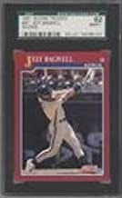Jeff Bagwell SGC GRADED 92 (Baseball Card) 1991 Score Rookie & Traded - Box Set [Base] #96T