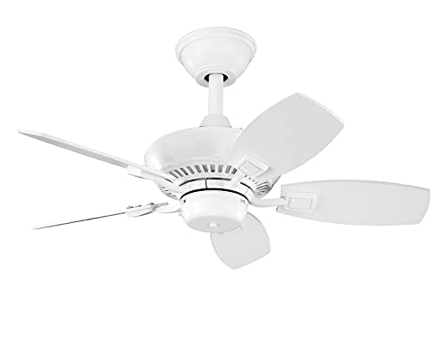 Kichler 300103WH 30-Inch Canfield Fan, White