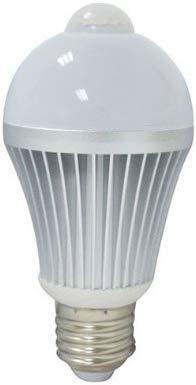LED Intelligente Lampe LED E27 6W 6000K mit Bewegungsmelder Fotozellensensor Intelligente Sensorlampe Glühbirne, Automatische Glühbirne für Haustür Balkon Garage Treppen,Kaltweiß (6000K-Kaltweiß)