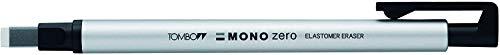 トンボ鉛筆 ホルダー型消しゴム モノゼロ 角型 EH-KUS04 シルバー 【× 4 個 】