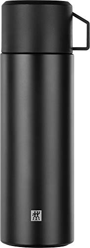 Zwilling Thermo Isolierflasche, Integrierte Tasse, Thermokanne, Doppelwandisolierung, 1 L, Höhe: 28, 1 cm, Schwarz