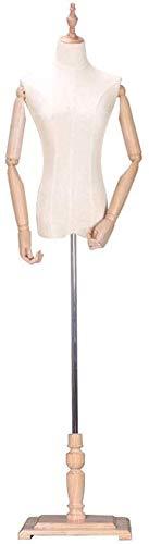 HYL Schneiderpuppen Weibliche Schneider Dummy Modeschöpfern Fashion Students Mannequin Anzeige Büste mit Holz Arm Einstellbar for Kleidung Schmuck-Ausstellungsstand (Color : B, Size : Small)
