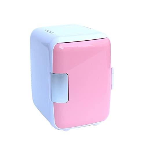 YUQIYU 4L rosa mini refrigerador dormitorio pequeño hogar portátil refrigerador refrigerador coche doble uso en la caja de calefacción