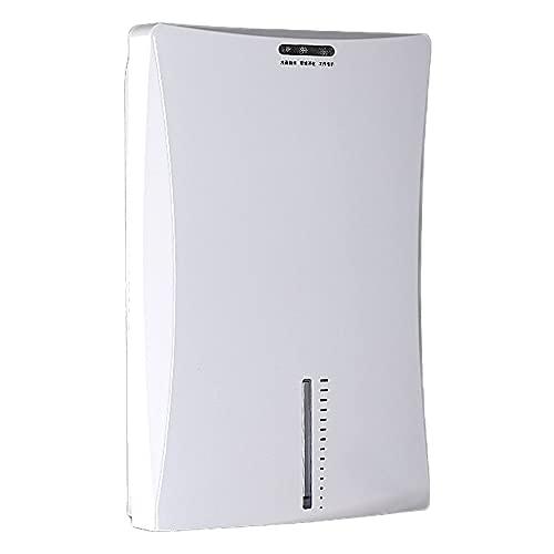 HXBH Deshumidificador eléctrico 2L Deshumidificador portátil pequeño Secador de aire silencioso utilizado para eliminar la humedad del hogar, cocina, baño, oficina, garaje/Blanco