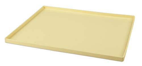 Zenker Biskuitrollenmatte CANDY, Rollmatte aus Silikon, Backblech für Kuchen (Farbe: Creme), Menge: 1 Stück