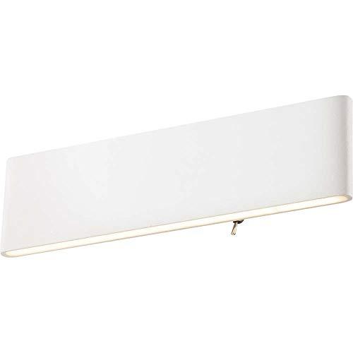 Lámpara de pared LED SIEGFRIED rectangular que se ilumina hacia arriba y hacia abajo, color blanco, acrílico, eficiencia energética: A
