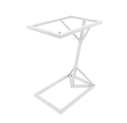YWXCJ Tables Basses Côté Verre trempé, Quelques Tables Basses en Fer forgé Modernes et minimalistes (Couleur : Blanc)