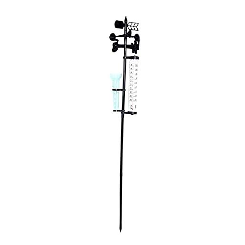 Non-brand 3 en 1 estación meteorológica de jardín termómetro de pluviómetro Fahrenheit Celsius Veleta para la decoración del jardín del Granero