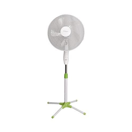 Virsus ventilatore a piantana  Zefiro  ventola a 5 pale con 3 velocità, diametro 43 cm altezza regolabile da 105 cm a 130 cm potenza 45 w aria fresca per l estate
