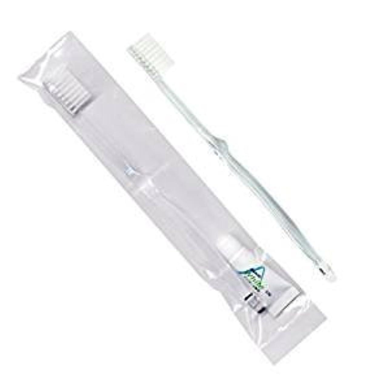 個人行方不明トレイホテル業務用歯ブラシ28穴(クリア)3.5gチューブ OP袋Sタイプ 50本