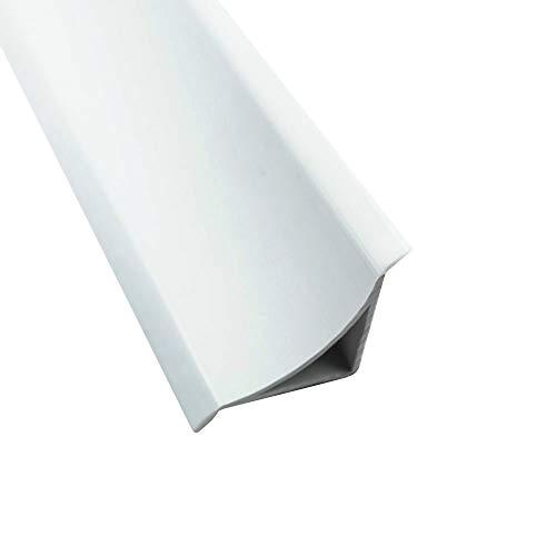 Abschlussleiste 2,5m Winkelleisten Bad Badewanne WC Gummilippe Wand PVC ALU 33mm PVC weiß