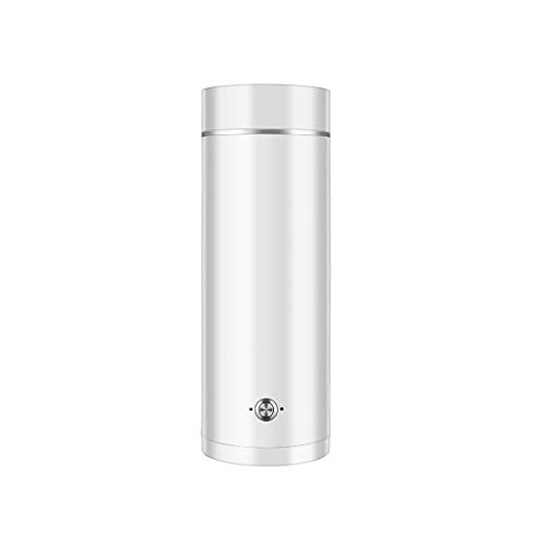 XJJZS Portátil de Viaje de Agua eléctrico Caldera Mini Termo Inteligente Tetera eléctrica de la Taza de la Leche de ebullición de la Caldera de Acero Inoxidable