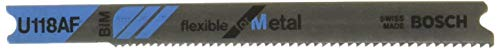 BOSCH U118AF 2-3/4-Inch, 24TPI, Bi-Metal Universal Shank Jigsaw Blade, 5 Pack