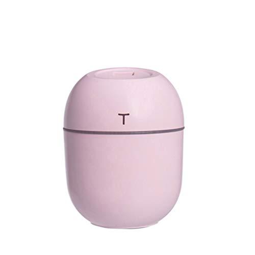 GYF Mini USB Umidificatore Calorifero,200ml Aroma Diffusore Auto Purificatore d'Aria Deumidificatore Bambini,2 Regolabile ModalitÀ,Nebbia (Color : Pink)