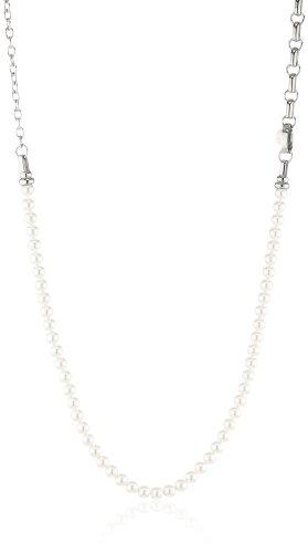 Esprit Damen-Halsband Edelstahl weiß ESNL11826A750