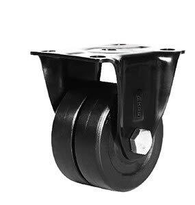 Ruedas Bajo centro de gravedad Ruedas con ruedas de doble fila, 1.6 pulgadas, para máquina pesada, alto cojinete de carga, mudo resistente al desgaste liso