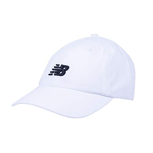 New Balance Men's and Women's 6-Panel Curved Brim Hat, White