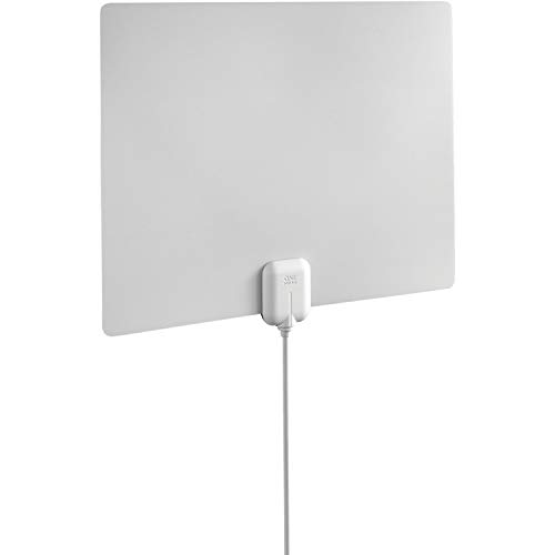 One For All 14542 HDTV Antenna - Amplified Indoor Ultra Thin TV Antenna, white/black