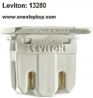 Leviton 13280 T8 Medium Bi Pin Fluorescent Lampholder (Package of 50)