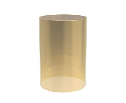 AK Lighting Electroplated Glass Hurricane Mirror Effect Cylinder Candle Holder Bottomless Glass Sleeve Lamp Shade Replacement (Gold,4X8)