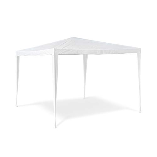 Relaxdays Gazebo Party Tent 2.5 x 3 x 3 m Garden Pavilion Tent Square Marquee Tent with Roof made of 100% PE, Tent for Festivals or Camping, Steel Frame, White