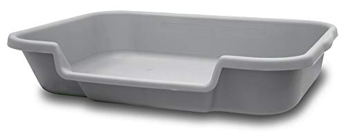 Bunny Go Here Rabbit Litter Box by Kit's Pet Pans Recycled Gray Color. USA Made 100% Warranty. See...