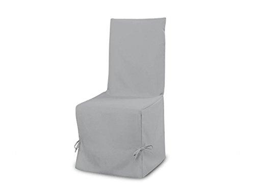 Fodera per sedia in cotone PANAMA grigio chiaro, 50x37x115